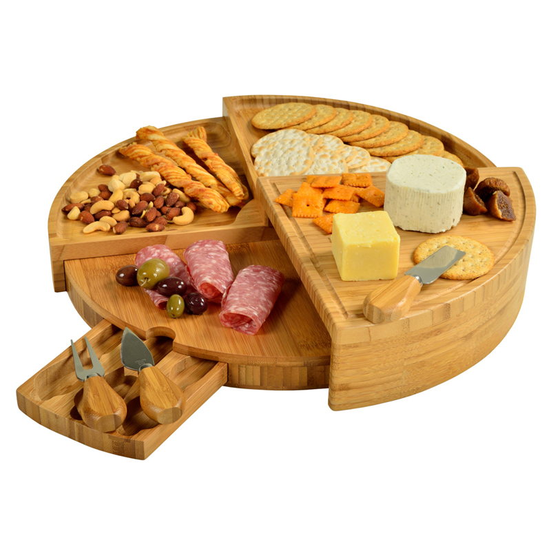 The Vienna Bamboo Cheese Board Set