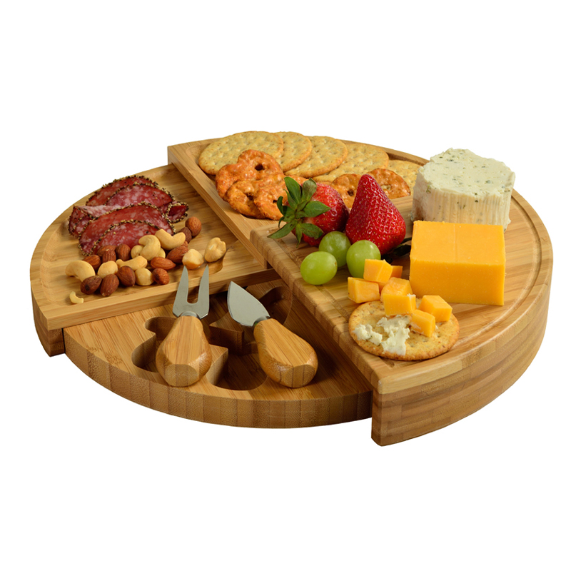 The Florence Transforming Bamboo Cheese Board Set w/ 2 Tools