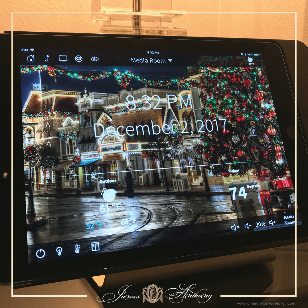 Luxury Christmas Decoration | James Anthony Collection - Even The Touch Panels Get Into The Christmas Spirit