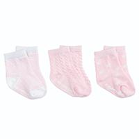 Elegant Baby Tonal Socks - 3pk Pink | James Anthony Collection