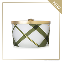 Thymes Frasier Fir Frosted Plaid Large Poured Candle   James Anthony Collection