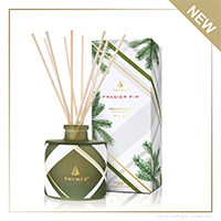 Frasier Fir Frosted Plaid Reed Diffuser   James Anthony Collection