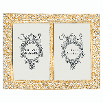 """Gold Windsor Double 4"""" x 6"""" Frame 