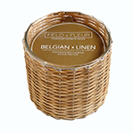 Hillhouse Naturals Belgian Linen 2 Wick Candle | James Anthony Collectio