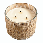 Hillhouse Naturals Belgian Linen 3 Wick Candle | James Anthony Collectio