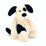 Jellycat Bashful Puppy Black & Cream | James Anthony Collection