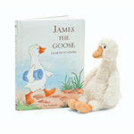 Jellycat Books James The Goose Learns To Swim | James Anthony Collection