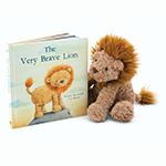 Jellycat The Very Brave Lion Book With Fuddlewuddle Lion | James Anthony Collection