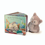 Jellycat Wake Up Little Owl Book With Little Owl | James Anthony Collection