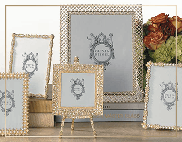 Olivia Riegel Crystal & Gold Frames | James Anthony Collection
