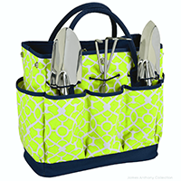 Picnic At Ascot Garden Tote & Tools Set - Trellis Green | James Anthony Collection