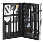 Picnic at Ascot 20 Piece Stainless Steel BBQ Barbecue Grill Tool Set with Aluminum Case | James Anthony Collection