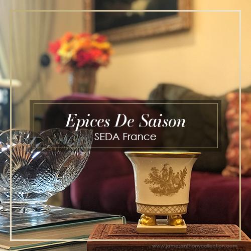 SEDA France Epices De Saison Classic Toile Petite Ceramic Candle