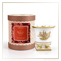 SEDA France Epices de Saison Classic Toile Petite Ceramic Candle | James Anthony Collection