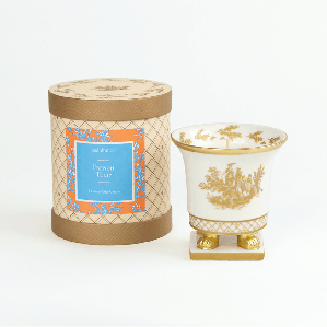 SEDA France French Tulip Classic Toile Petite Ceramic Candle | James Anthony Collection