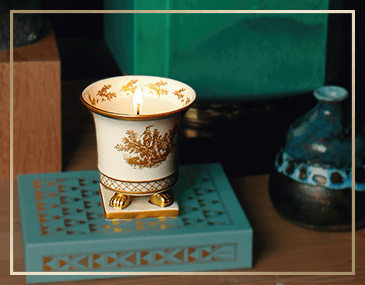 SEDA France Petite Toile Ceramic Candles | James Anthony Collection