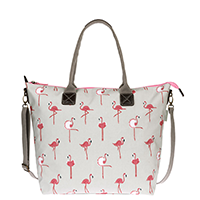 Sophie Allport Flamingos Oilcloth Oundle Bag | James Anthony Collection