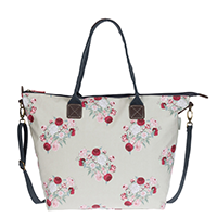 Sophie Allport Peony Oilcloth Oundle Bag | James Anthony Collection