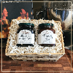 Stonewall Kitchen Wild Maine Blueberry Jam & Strawberry Jam Gift Basket   James Anthony Collection