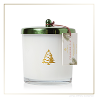 Thymes Frasier Fir Exclusive Poured Candle w/ Green Lid | James Anthony Collection