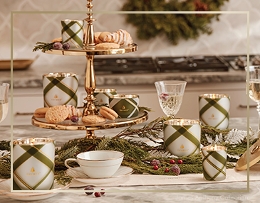 Thymes Frasier Fir Frosted Plaid Collection | James Anthony Collection