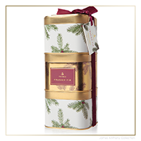 Thymes Frasier Fir Novelty Stackable Gift Tin Trio | James Anthony Collection