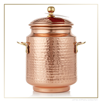 Thymes Simmered Cider Tall Copper Pot Poured Candle - UPC 637666047652 | James Anthony Collection