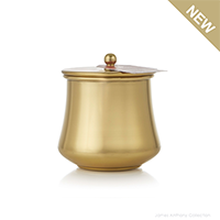Thymes Simmered Cider Gold Kettle Cup Poured Candle with Gold Lid - UPC 637666047676 | James Anthony Collection