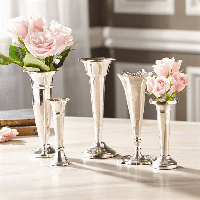 Two's Company Silver Plaza Vases - 5-Piece Set | James Anthony Collection