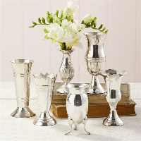 Two's Company Silver Queen Anne's Vases  - 6 Piece Set | James Anthony Collection
