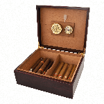 Viski Admiral Cherry Wood Humidor | James Anthony Collection