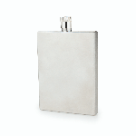 Admiral Stainless Steel Slim Flask | James Anthony Collection