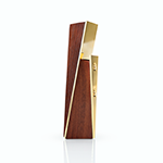 Viski Belmont Acacia and Gold Bottle Opener   James Anthony Collection