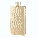 Viski Belmont Brass Flask | James Anthony Collection