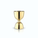 Viski Belmont Gold Canterbury Jigger   James Anthony Collection