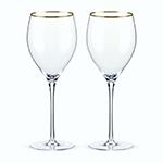 Viski Belmont Gold Rimmed Crystal Red Wine Glasses | James Anthony Collection