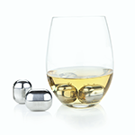 Viski Glacier Rocks Stainless Steel Wine Globes | James Anthony Collection