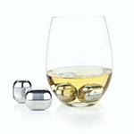 Viski Glacier Rocks Stainless Steel Wine Globes | James Anthony Collection