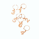 Viski Summit Copper Wine Charms | James Anthony Collection