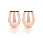 Viski Summit Copper Stemless Wine Glasses | James Anthony Collection