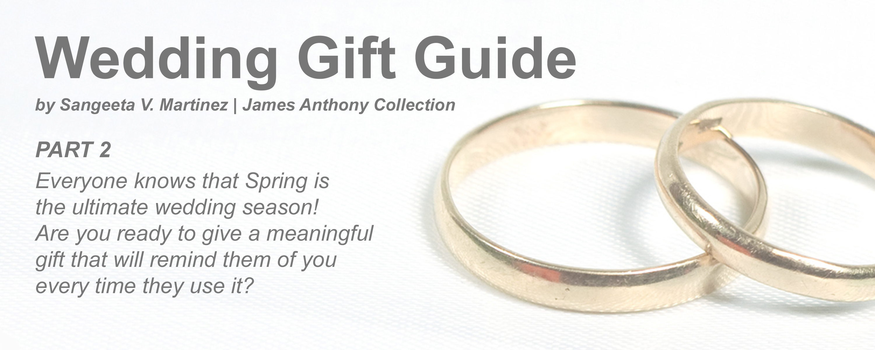 Wedding Gift Guide Part 2 : For the Groomsmen | James Anthony Collection