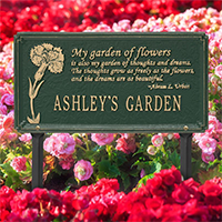 Whitehall Dianthus Garden Personalized Garden Plaque - James Anthony Collection