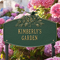 Butterfly Blossom Garden Personalized Lawn Plaque - James Anthony Collection