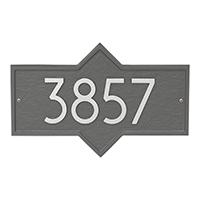 Whitehall Hampton Modern Address Plaque - James Anthony Collection
