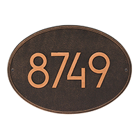 Whitehall Hawthorn Modern Address Plaque - James Anthony Collection