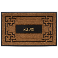Whitehall Personalized Sailor's Knot Coir Mat - UPS: 719455405383 | James Anthony Collection