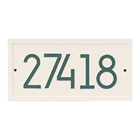 Whitehall Rectangle Modern Address Plaque - James Anthony Collection