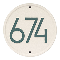 Whitehall Round Modern Address Plaque - James Anthony Collection