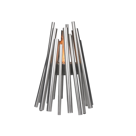 Ecosmart STIX Fire Pit - Brushed Stainless Steel | James Anthony Collection