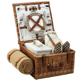 Picnic at Ascot Cheshire Picnic Basket for 2 w/blanket - London